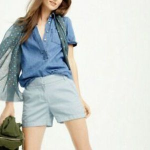 Light Wash Chino Style Casual Preppy Shorts
